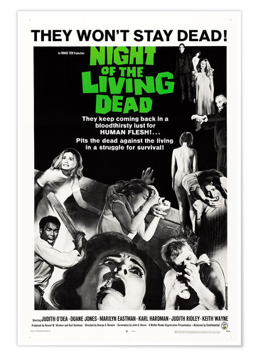 Poster Premium Night of the Living Dead