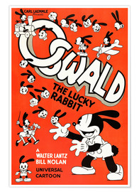 Poster Premium  Oswald the Lucky Rabbit
