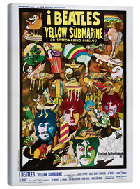 Stampa su tela  I Beatles - Yellow Submarine