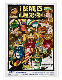 Poster Premium  I Beatles - Yellow Submarine