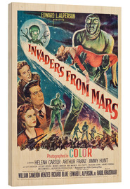 Stampa su legno  Invaders from Mars