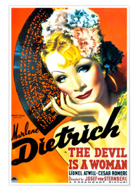 Poster  THE DEVIL IS A WOMAN, Marlene Dietrich, 1935 Poster Art