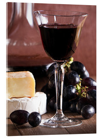 Stampa su vetro acrilico  Cheese platter with wine - Edith Albuschat