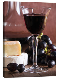 Tela  Cheese platter with wine - Edith Albuschat