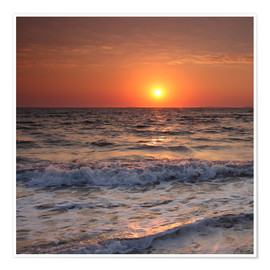 Poster Premium  Sunset at the sea - Filtergrafia