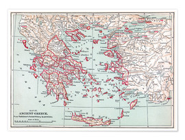 Poster  Map: Ancient Greece
