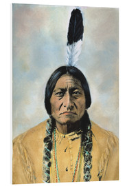 Stampa su schiuma dura  Sitting Bull - David F. Barry