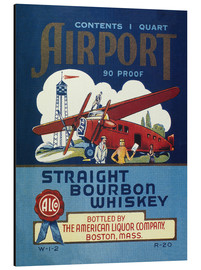 Stampa su alluminio  Airport Whiskey Label