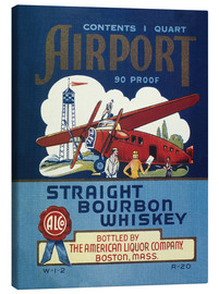 Stampa su tela  Airport Whiskey Label