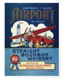 Poster  Airport Whiskey Label