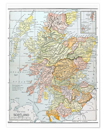 Poster  Map: Scotland