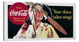 Stampa su tela  Coca-Cola, your thirst takes wings