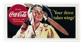 Poster Premium  Coca-Cola, your thirst takes wings