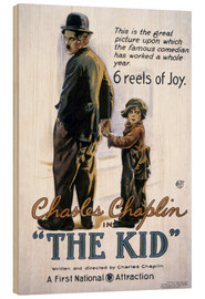 Stampa su legno  Chaplin: The Kid, 1920