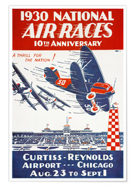 Poster  Air Races, Chicago Airport
