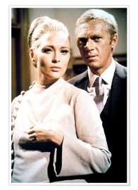 Poster Premium  THE THOMAS CROWN AFFAIR, Faye Dunaway, Steve McQueen