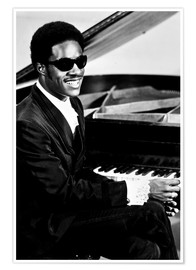 Poster Premium  Stevie Wonder at the piano
