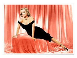 Poster Premium Marilyn Monroe in a cocktail dress