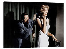 Alluminio Dibond  Dial M for Murder, from left: Anthony Dawson, Grace Kelly in 1954
