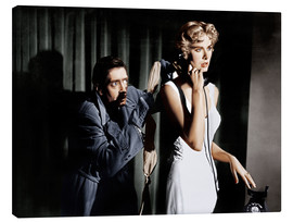 Stampa su tela  Dial M for Murder, from left: Anthony Dawson, Grace Kelly in 1954