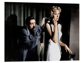 Stampa su schiuma dura  Dial M for Murder, from left: Anthony Dawson, Grace Kelly in 1954