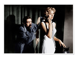 Poster Premium  Dial M for Murder, from left: Anthony Dawson, Grace Kelly in 1954
