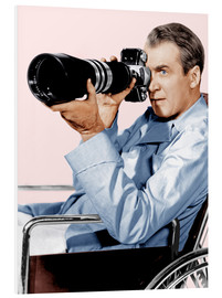 Stampa su schiuma dura  REAR WINDOW, James Stewart, 1954