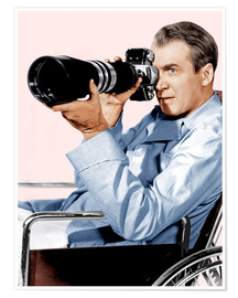 Poster Premium  REAR WINDOW, James Stewart, 1954