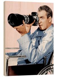 Stampa su legno  REAR WINDOW, James Stewart, 1954