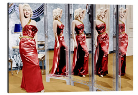 Stampa su alluminio  Marilyn Monroe in front of mirrors