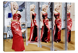Stampa su tela  Marilyn Monroe in front of mirrors