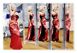 Poster  Marilyn Monroe in front of mirrors