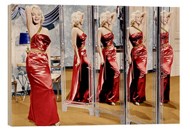 Stampa su legno  Marilyn Monroe in front of mirrors