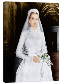 Stampa su tela  The Wedding in Monaco, Grace Kelly