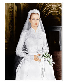 Poster Premium  The Wedding in Monaco, Grace Kelly