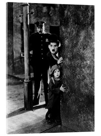 Vetro acrilico  Tom Wilson, Charles Chaplin and Jackie Coogan in The Kid