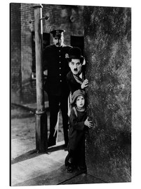 Stampa su alluminio  Tom Wilson, Charles Chaplin and Jackie Coogan in Il monello