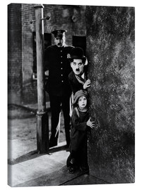 Stampa su tela  Tom Wilson, Charles Chaplin and Jackie Coogan in Il monello