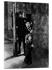 Stampa su schiuma dura  Tom Wilson, Charles Chaplin and Jackie Coogan in Il monello