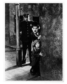 Poster  Tom Wilson, Charles Chaplin and Jackie Coogan in The Kid