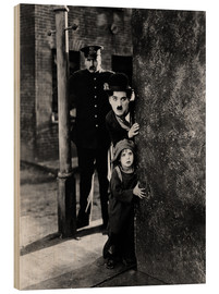 Legno  Tom Wilson, Charles Chaplin and Jackie Coogan in The Kid