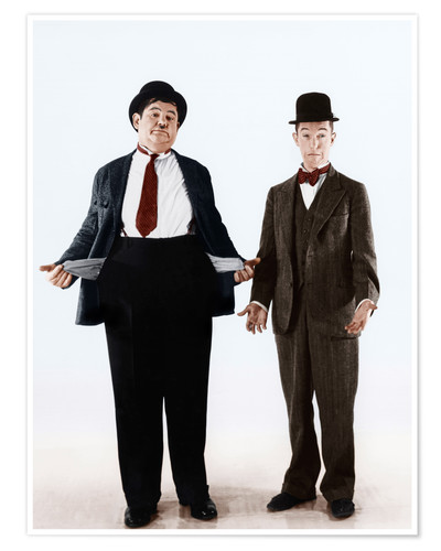 Poster Premium Laurel & Hardy with empty pockets