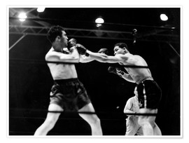 Poster Premium  Max Schmeling fights against Joe Louis