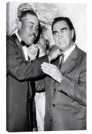 Stampa su tela  Max Schmeling and Joe Louis