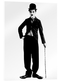 Vetro acrilico  Charlie Chaplin with walking stick