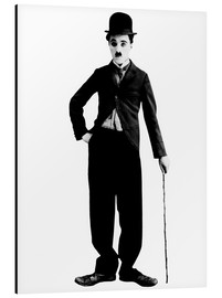 Alluminio Dibond  Charlie Chaplin with walking stick
