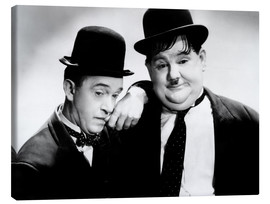 Stampa su tela  Stan Laurel and Oliver Hardy