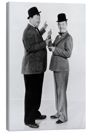 Stampa su tela  Oliver Hardy and Stan Laurel
