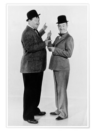 Poster Premium  Oliver Hardy and Stan Laurel