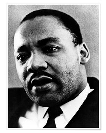 Poster Premium Dr. Martin Luther King Jr. (1929-1968), African American civil rights leader, c. 1960's..